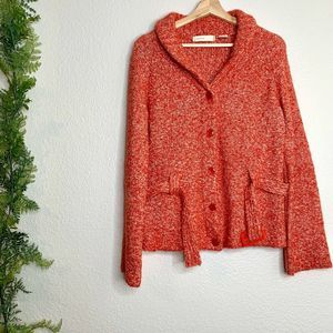 Anthropologie Sleeping on Snow Belted Cardigan M